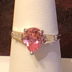 Jewelry - PINK TOPAZ Pear Shaped Ring